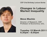 CEP 21st Birthday Lecture: Changes in Labour Market Inequality