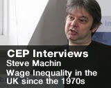 Interview with Steve Machin on Wage Inequality in the UK since the 1970s.