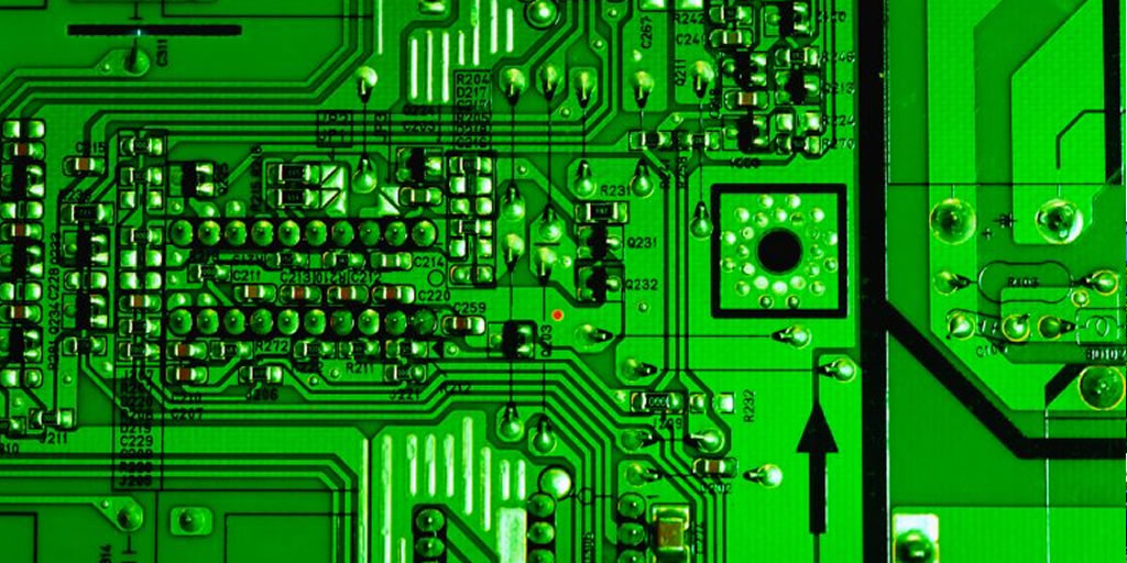 Circuit board by Carl Drougge, CC BY-SA 2.0 Creative Commons CC0. Image cropped. https://www.flickr.com/photos/drougge/7382892612/ https://creativecommons.org/licenses/by-sa/2.0/0