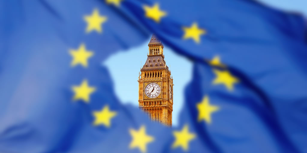 Image from iStockphoto. Credit:narvikk https://www.istockphoto.com/photo/flag-of-eu-with-big-ben-in-the-hole-gm542799318-97242507