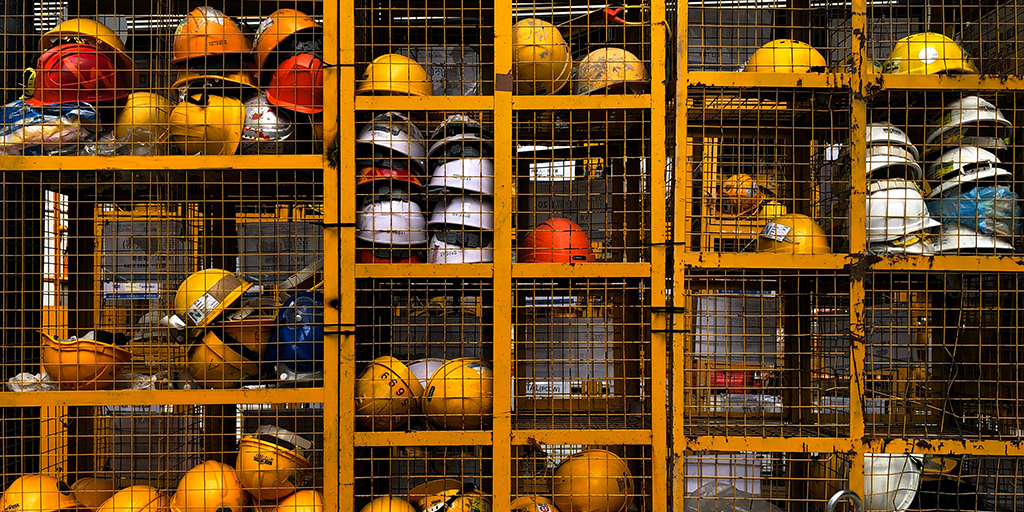 Photo of hard-hats. Published under CC0 Public Domain. https://unsplash.com/photos/wp81DxKUd1E